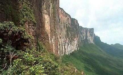The sheer cliffs of Mt. Roraima, Venezuela