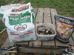 Peat moss and Perlite